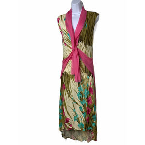 Yigal Azrouel Maxi Silk Dress XS 2 Floral